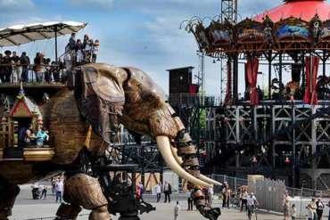 Carousel-mondes-marins-Grand-éléphant-web-machine-de-ile